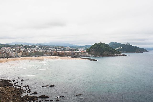 view from above during our hike from San Sebastián to Pasajes San Juan