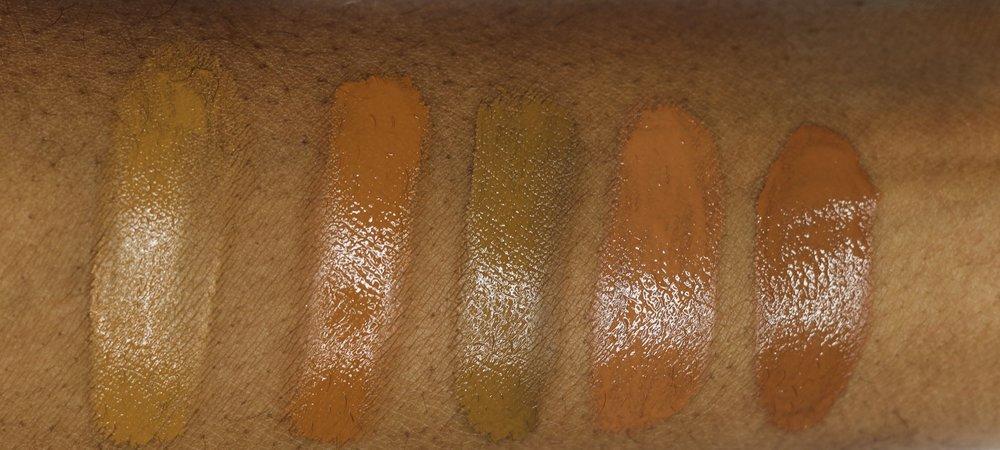 Golden Caramel, Warm Tawny, True Caramel, Bronze, Deep Bronze
