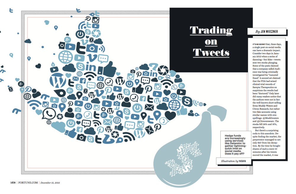 """How Hedge Funds Are Using Twitter to Make Money,"" Fortune, December 2015"