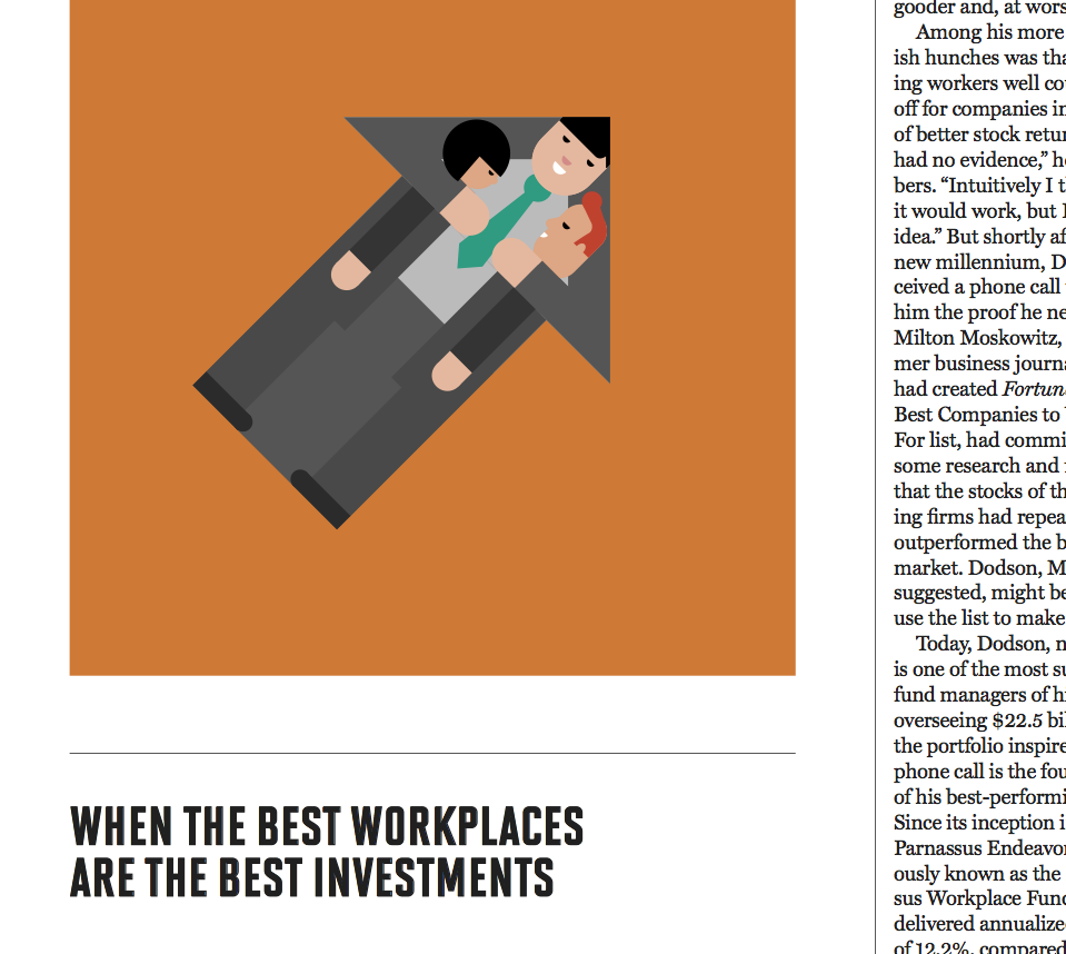 """How Buying Stock in the 'Best Companies to Work For' Helped This Investor Crush the Market,"" Fortune, March 2017"