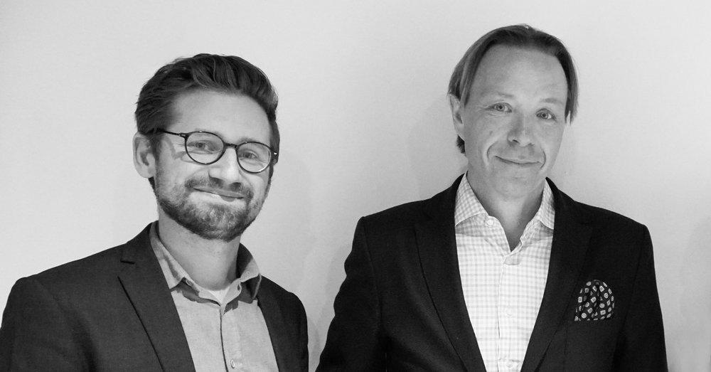 Mattias Schain, VD för Tolkvox, och Patrik Attemark, VD för Semantix.