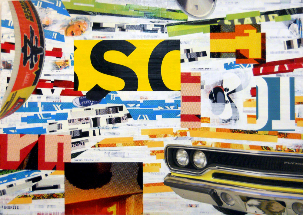 Acme School of Driving, 2014, 60h x 84w, Billboard paper and paint on panel