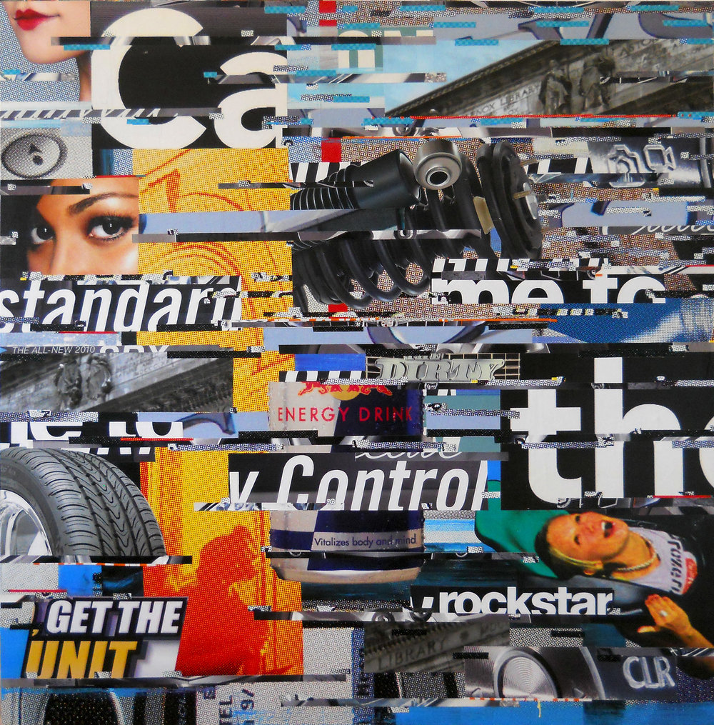 Unit Control like a Rockstar 2014, 53 x 53, billboard paper on panel