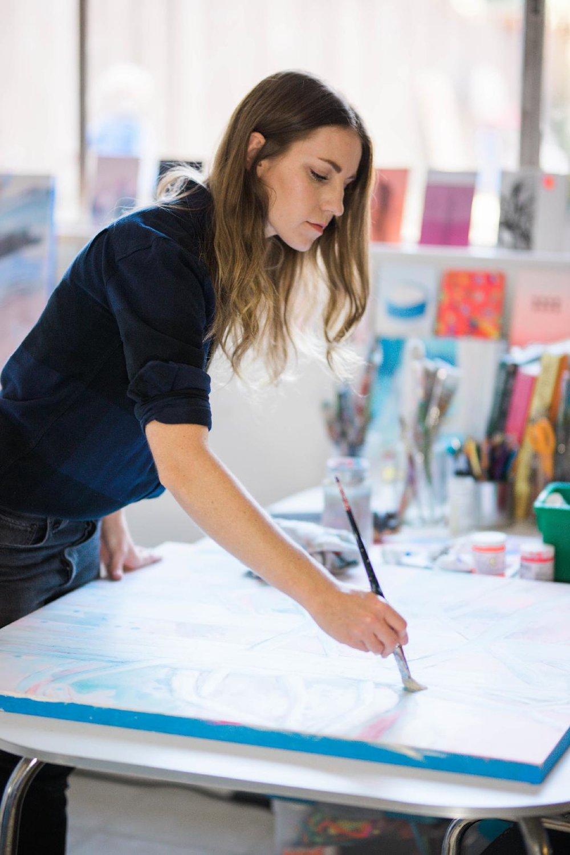 Denise Gasser in her studio.