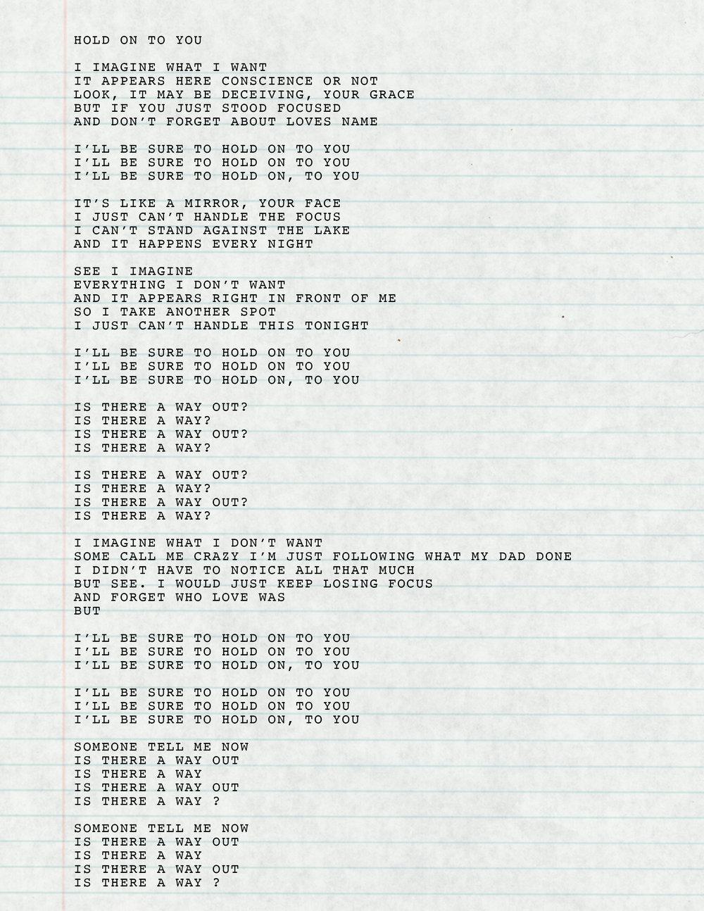 9. Hold On To You Lyrics.jpg