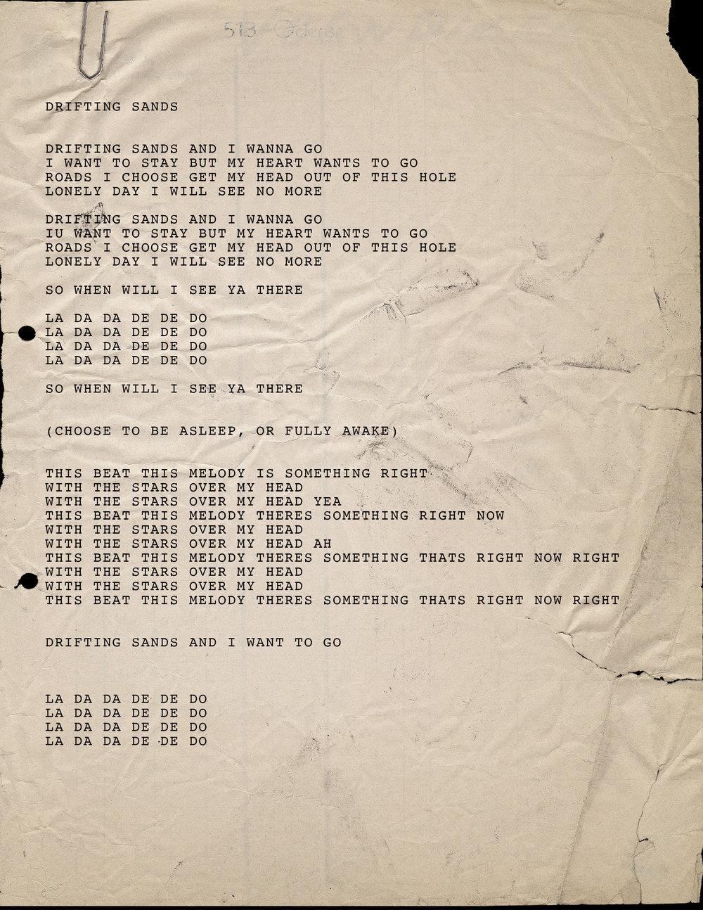 4. Drifting Sands Lyrics.jpg