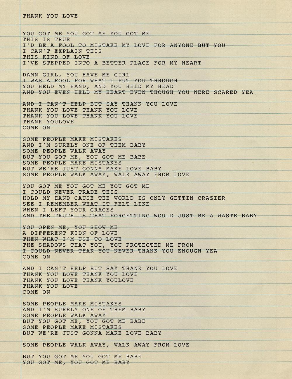 2. Thank you Love Lyrics.jpg