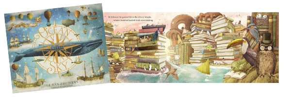 Ocean Meets Sky,  written & illustrated by The Fan Brothers, Simon & Schuster (May 2018)