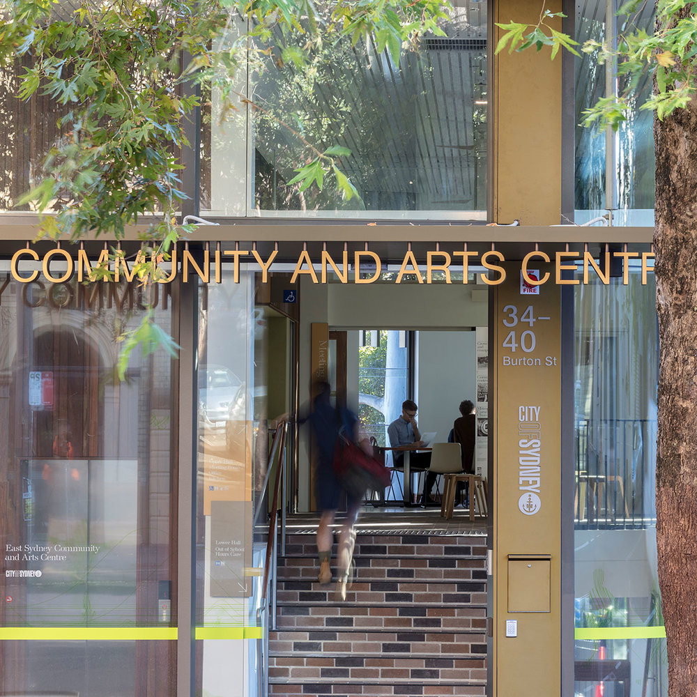 East Sydney Community + Arts Centre - 2018 - NSW AIA Urban Design Award (lahznimmo architects with spackman mossop michaels)