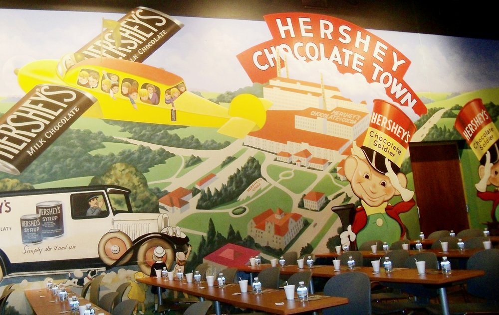 Mural inside the Hershey Tasting room
