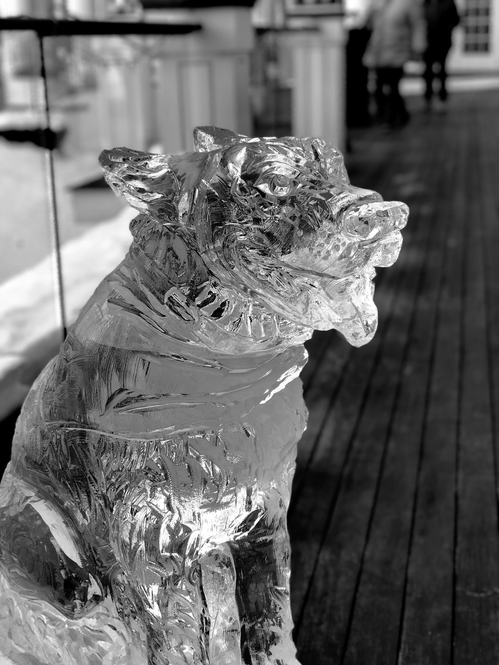 Ice sculpture on one of the porches at The Sagamore in Bolton Landing, NY. c. January 2019