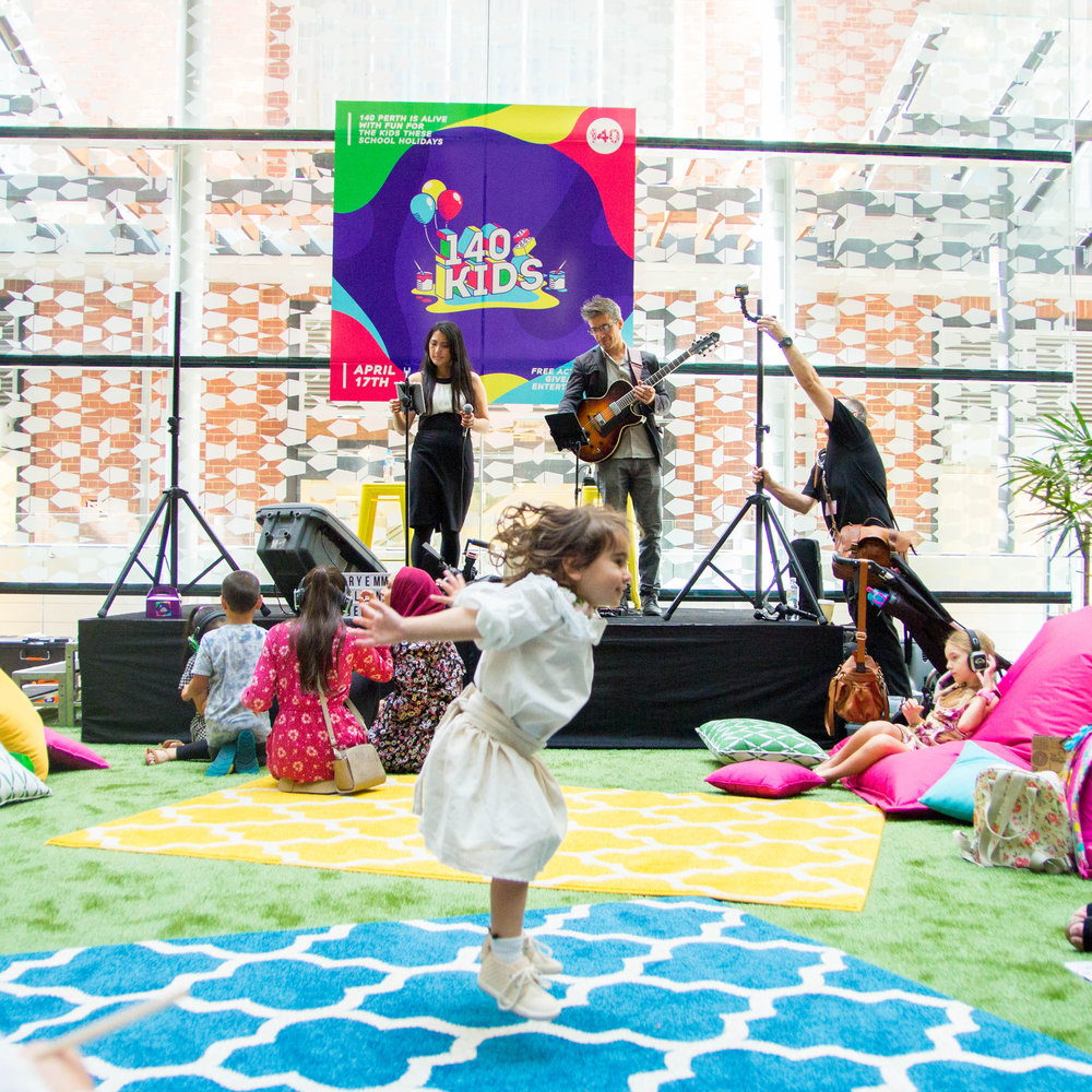 140 Kids - What: Every parent's dream during school holidaysWho: The most NOT bored kids in P-town!Where: 140 William Street, PerthWhat went down: Free activities, epic giveaways and amazing entertainment to keep your kids busy for HOURSVIEW GALLERY