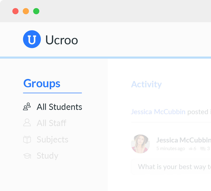 Ucroo Groups mockup