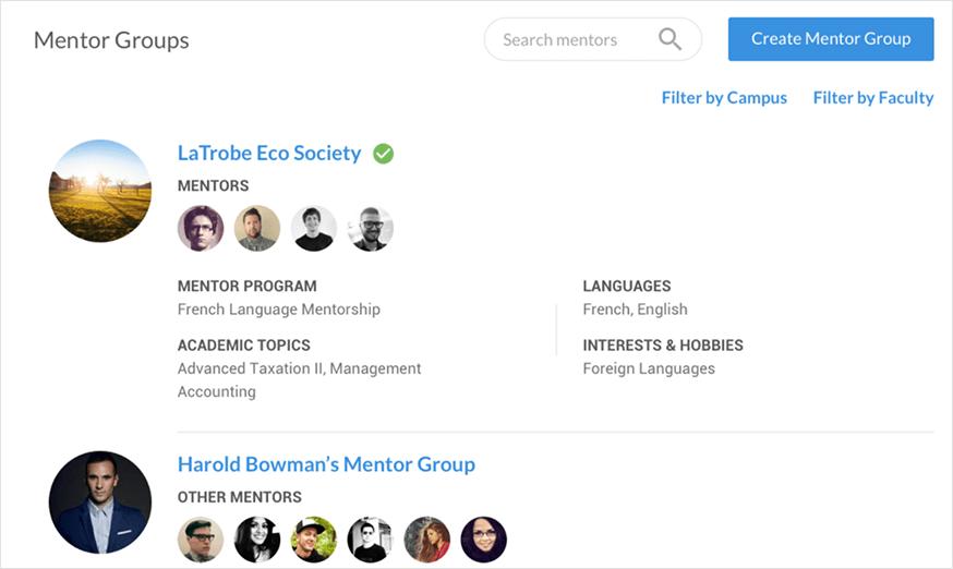 Ucroo Mentor Groups List