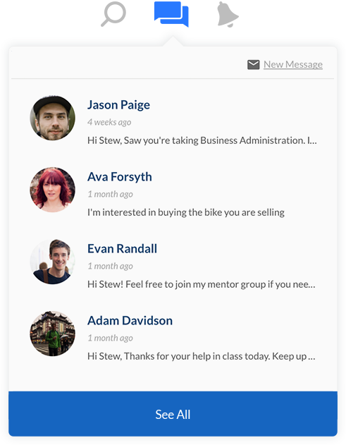 Ucroo Message Inbox
