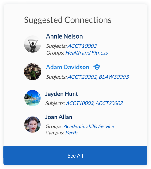 Ucroo Suggested Connections