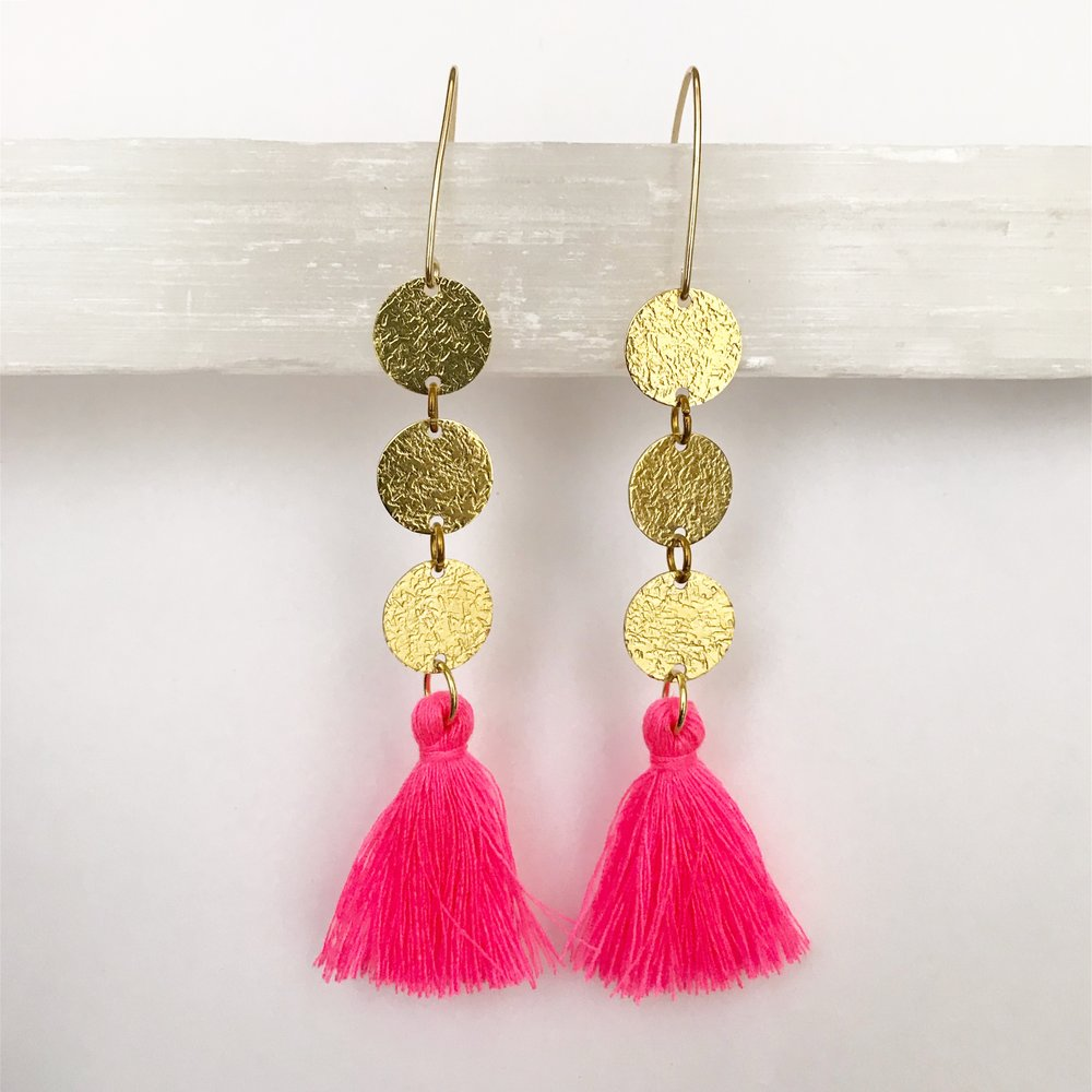 BRASS STATEMENT EARRING WORKSHOP - STYLE NO. 14   $55 + HST PER PERSON (MATERIALS INCLUDED)