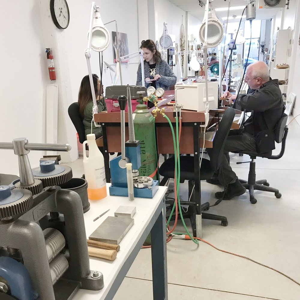 - Open Studio is on a 'first-come, first-serve' basis. There will be 4 benches available during this time. If you would like to guarantee a time/spot, please get in touch with us in advance.