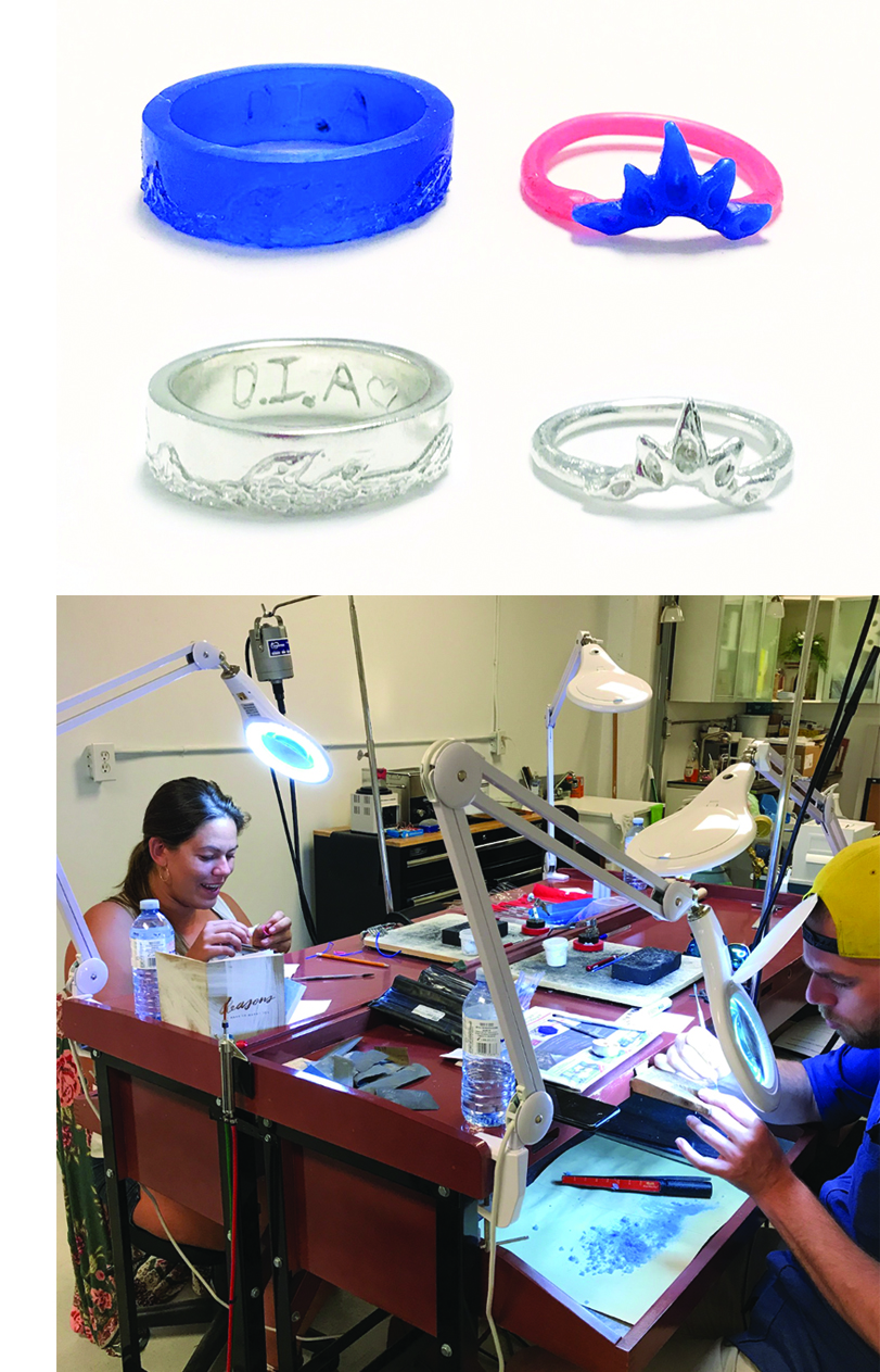 PRIVATEWAX TO METAL WEDDING BAND WORKSHOP - $475+ HST PER COUPLE (PLUS MATERIALS)GETTING READY TO TIE THE KNOT? LOOKING FOR A PERSONALIZED AND MEMORABLE EXPERIENCE TO MAKE YOUR OWN WEDDING BANDS?OUR PRIVATE WAX TO METAL WEDDING BAND WORKSHOP IS A 5 hour, two-part Workshop.In Part 1 (2.5 hours), you will learn the basics of wax carving. You will learn how to carve your own ring (or your partner's ring), out of wax using a variety of tools and techniques. Once your piece has been carved in wax, we will take it to cast in Sterling Silver or Yellow/White/Rose Gold at a casting house off-site.In Part 2 (2.5 hours), you will learn how to clean, polish and finish your rings. Then celebrate WITH a complimentary SPARKLING TOAST AT THE END OF THE WORKSHOP! CHEERS!EMAIL US AT CONTACT@RAWSPACE.INFO TO START PLANNING YOUR PRIVATE WAX TO METAL WEDDING BAND WORKSHOP NOW!WE WOULD LOVE TO BE A PART OF YOUR STORY!