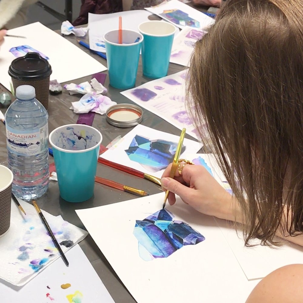 WATERCOLOUR CRYSTAL PAINTING WORKSHOP