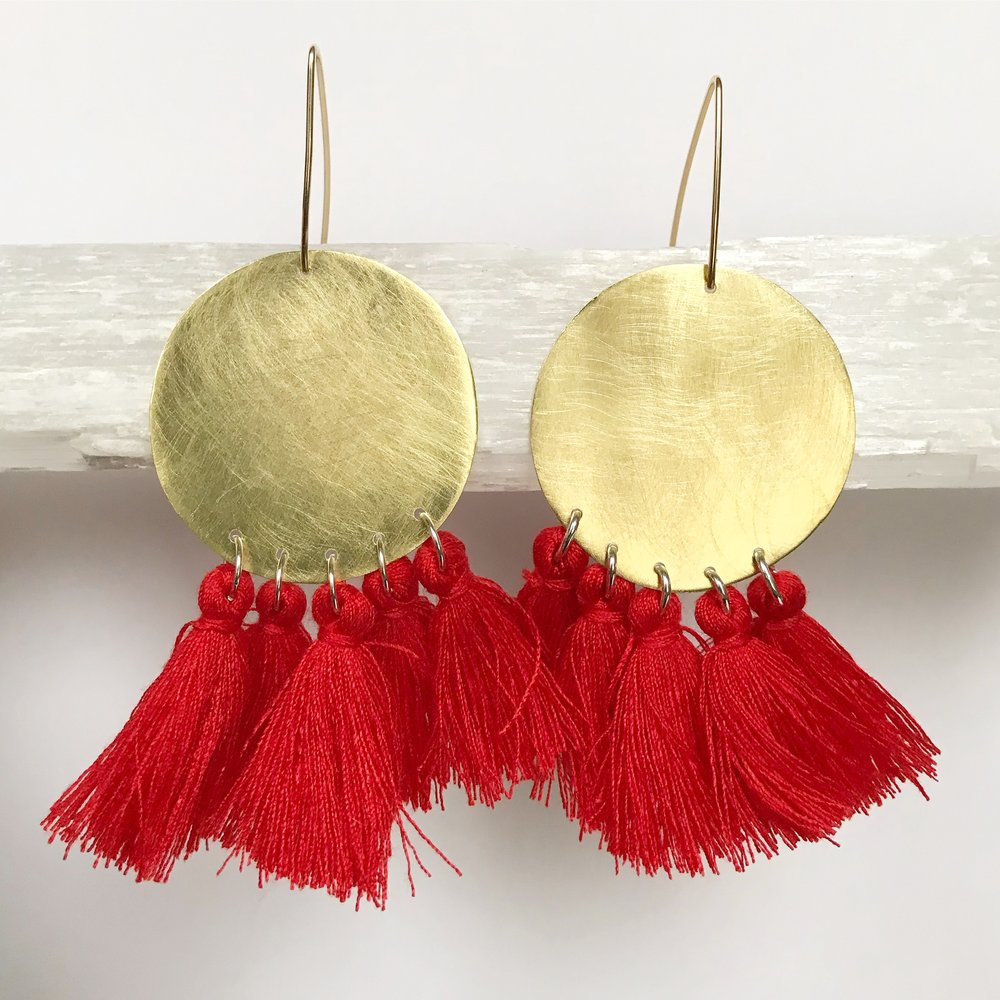BRASS STATEMENT EARRINGS - STYLE NO. 2