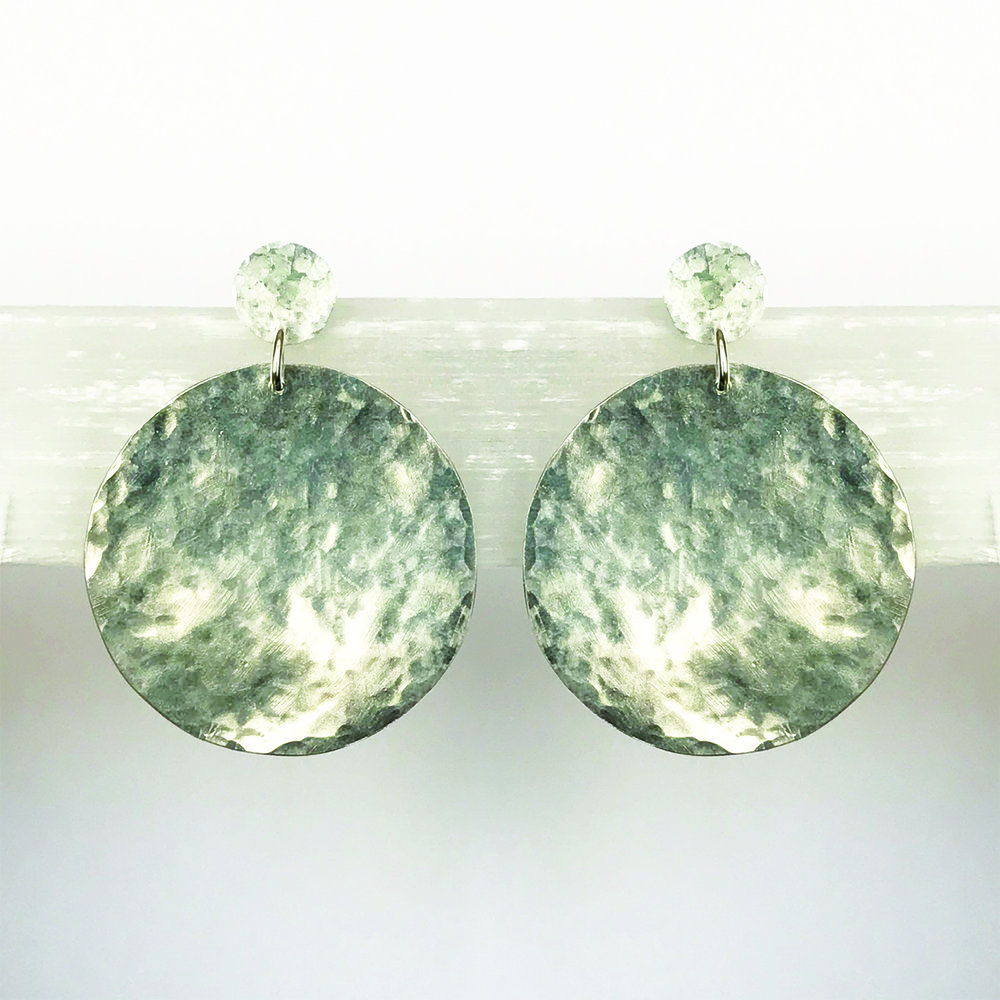 STERLING SILVER STATEMENT EARRINGS - NO. 1
