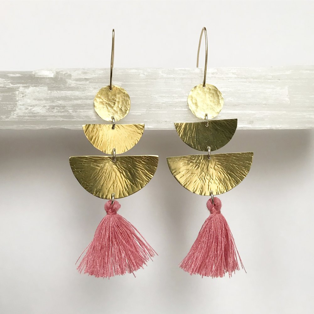 BRASS STATEMENT EARRINGS - STYLE NO. 3
