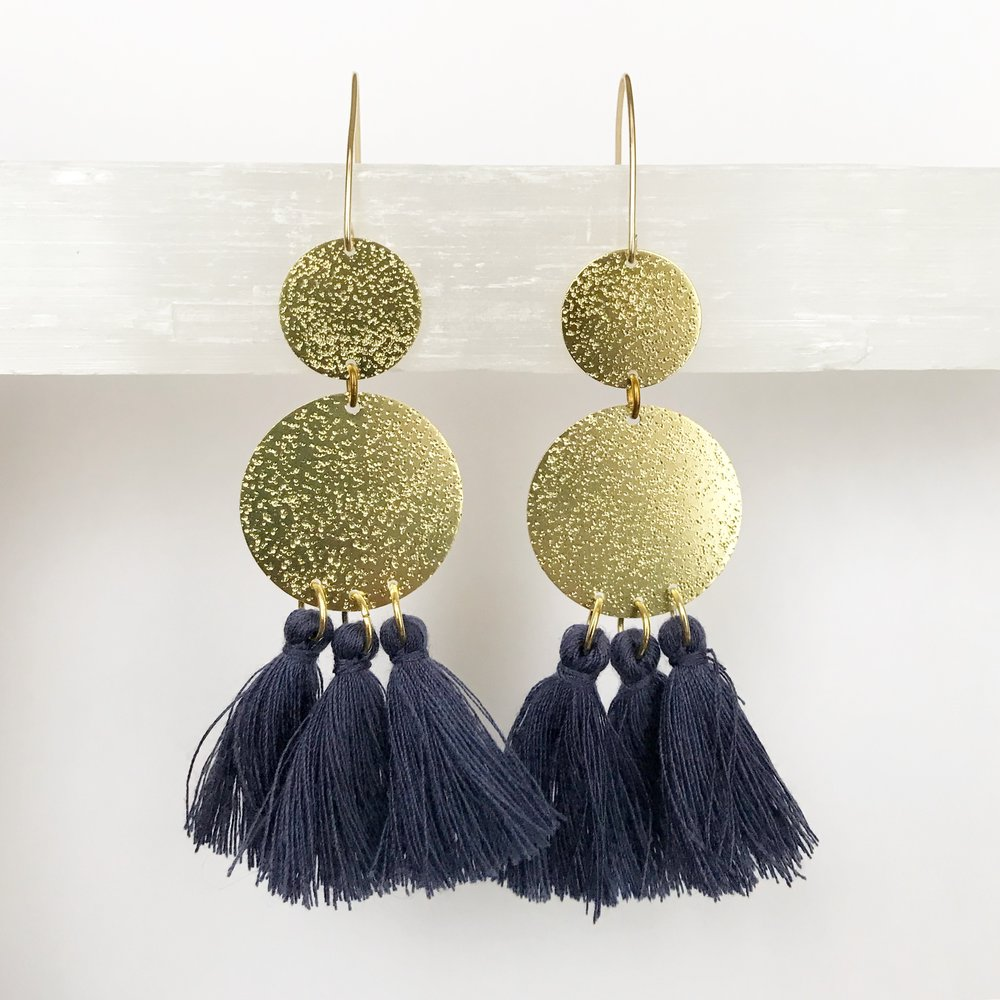 BRASS STATEMENT EARRINGS - STYLE NO. 7