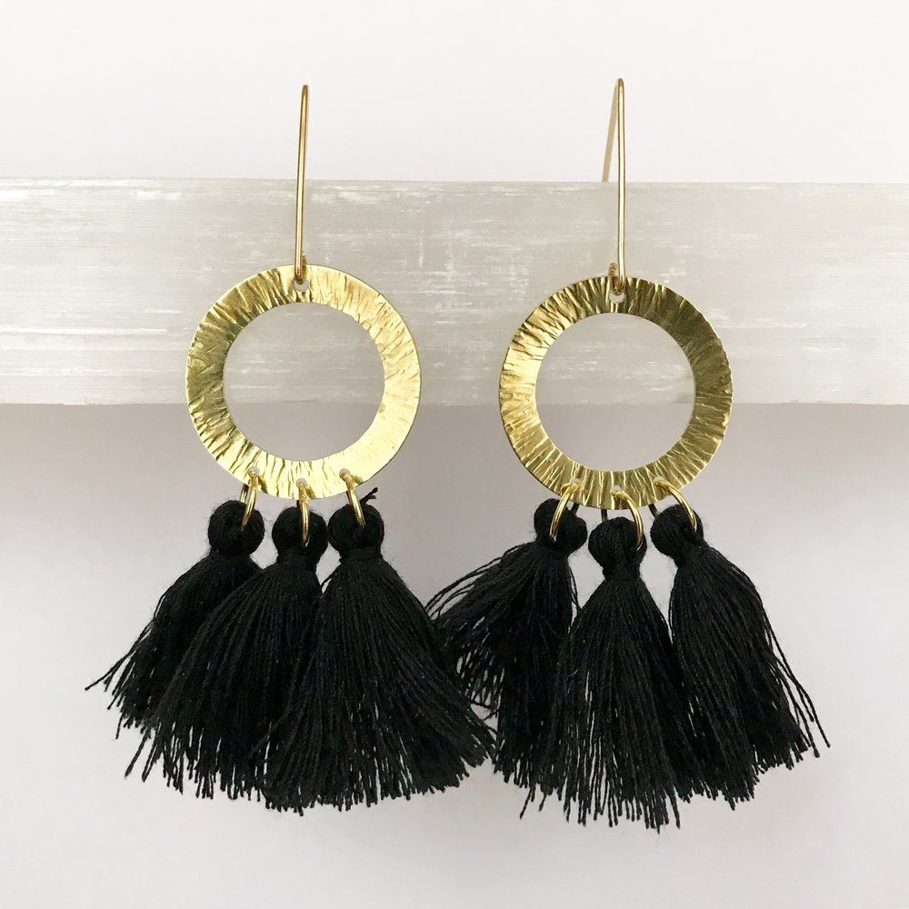 BRASS STATEMENT EARRINGS - STYLE NO. 11