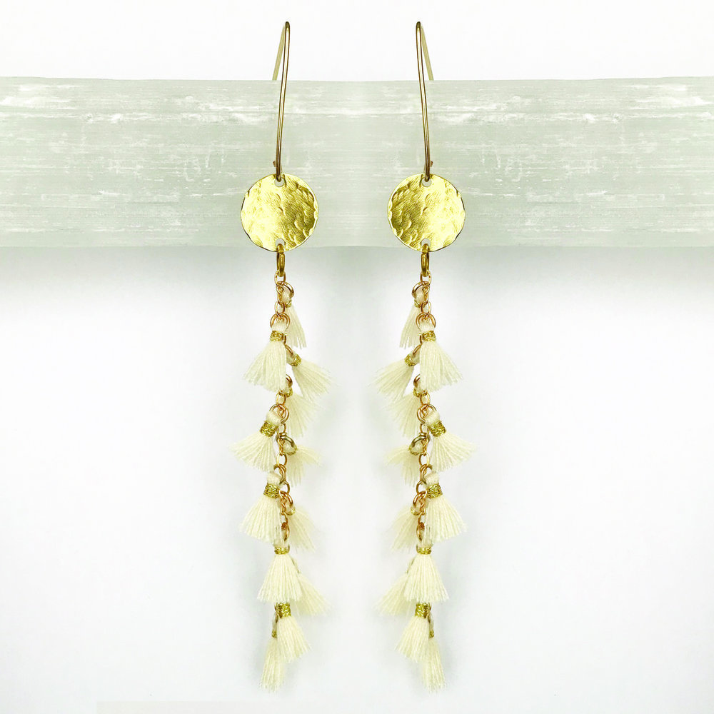 BRASS STATEMENT EARRINGS - STYLE NO. 10