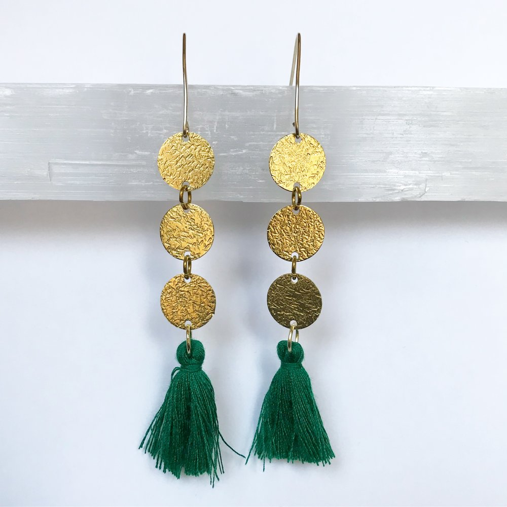 BRASS STATEMENT EARRINGS - STYLE NO. 14