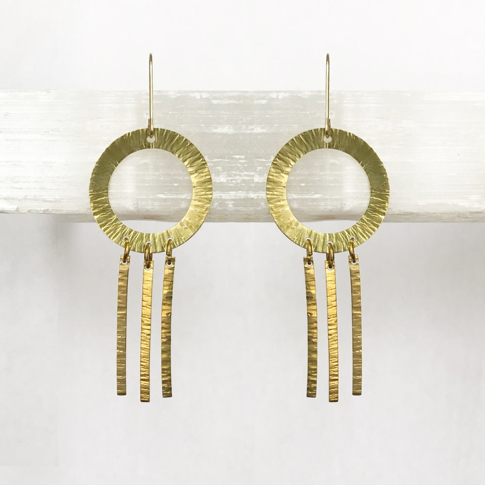 BRASS STATEMENT EARRINGS - STYLE NO. 19