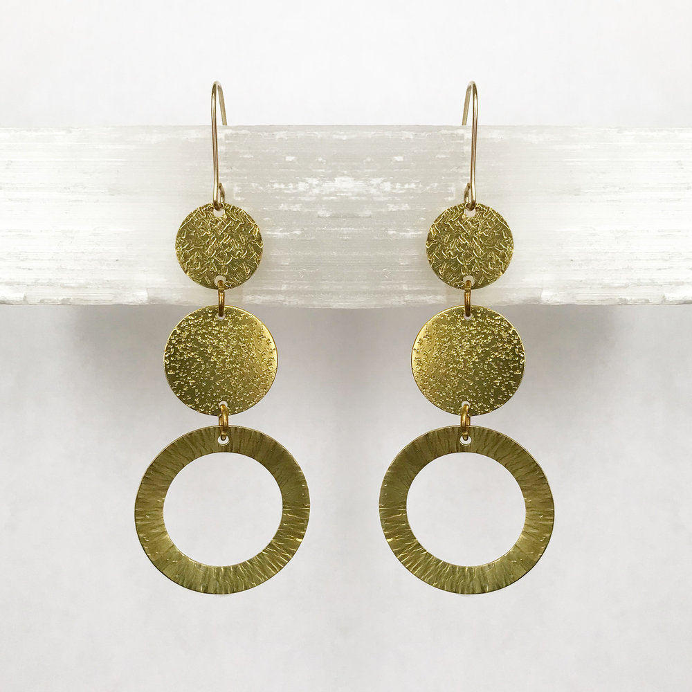 BRASS STATEMENT EARRINGS - STYLE NO. 20