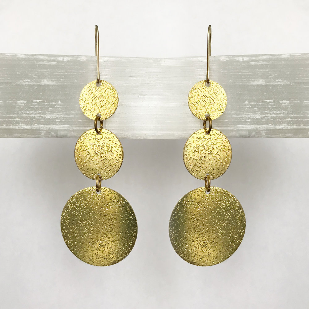 BRASS STATEMENT EARRINGS - STYLE NO. 21