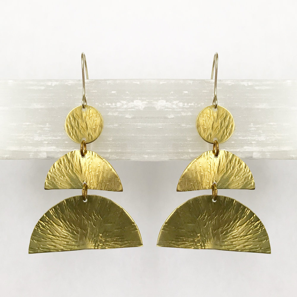 BRASS STATEMENT EARRINGS - STYLE NO. 24