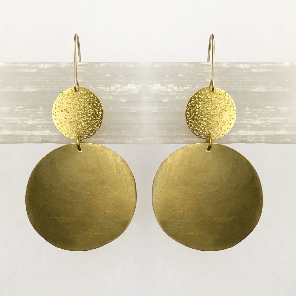BRASS STATEMENT EARRINGS - STYLE NO. 23