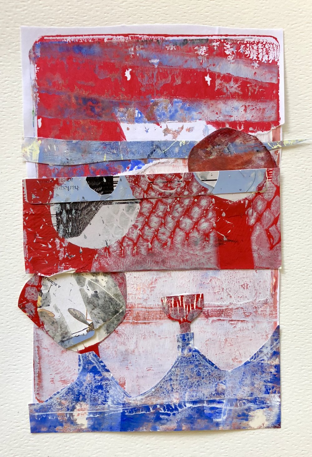 Gelli Plate Print Collage
