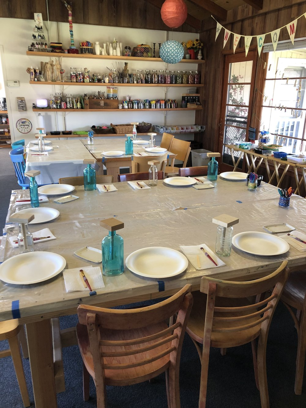 """Getting ready for a birthday party…. - the beginning of """"Bottle Sculptures""""!"""
