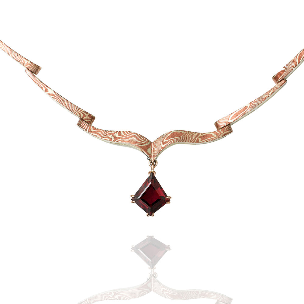 Mokume Gane Necklace