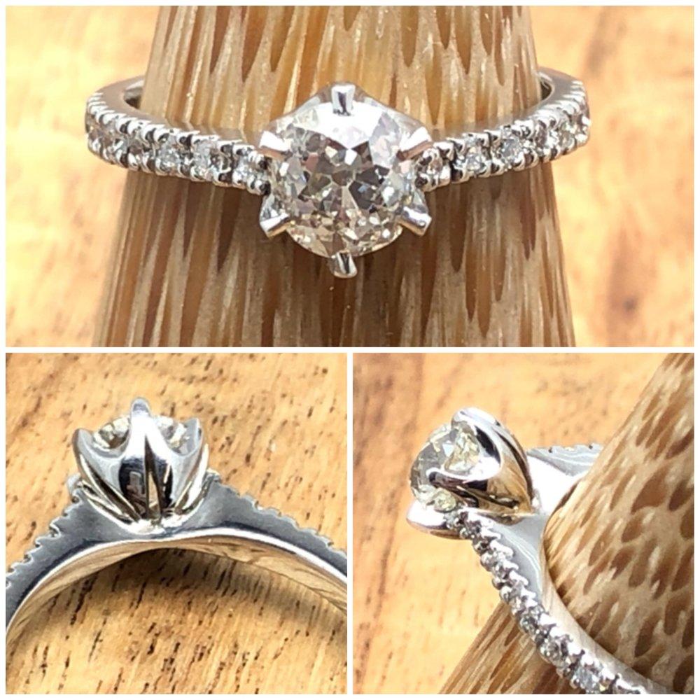 Old cut diamond engagement.JPG