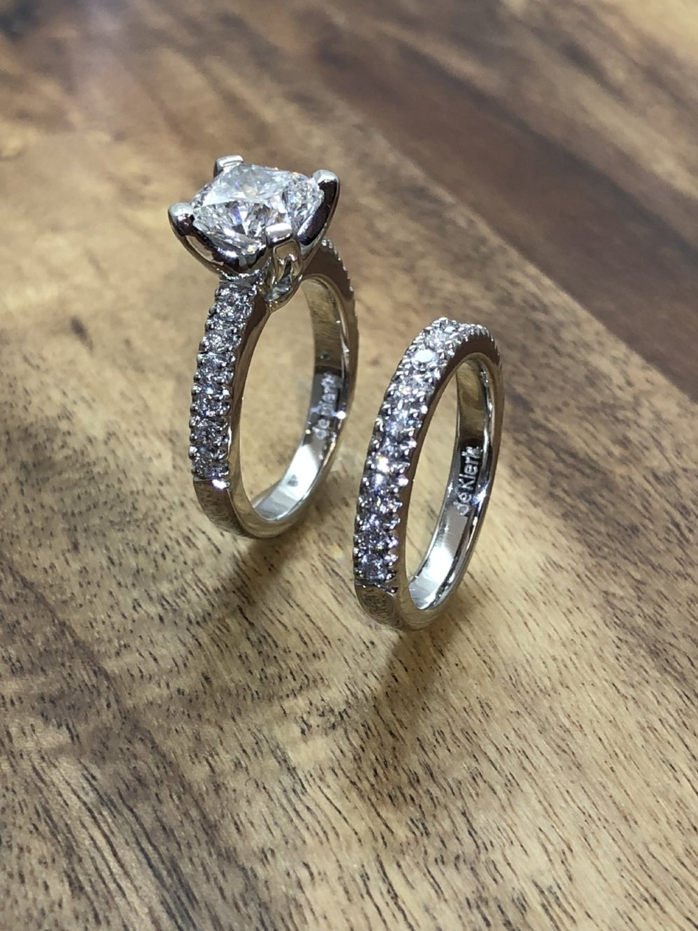 Engagement Ring Matching Diamond Wedding Band