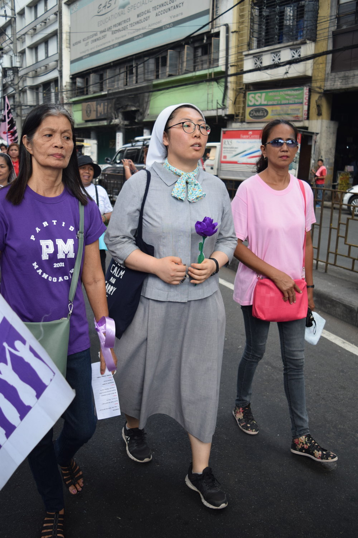 Left to Right: Lilia Casas, Sr. Faustina Choi (MSC),and Amalia Bascon.