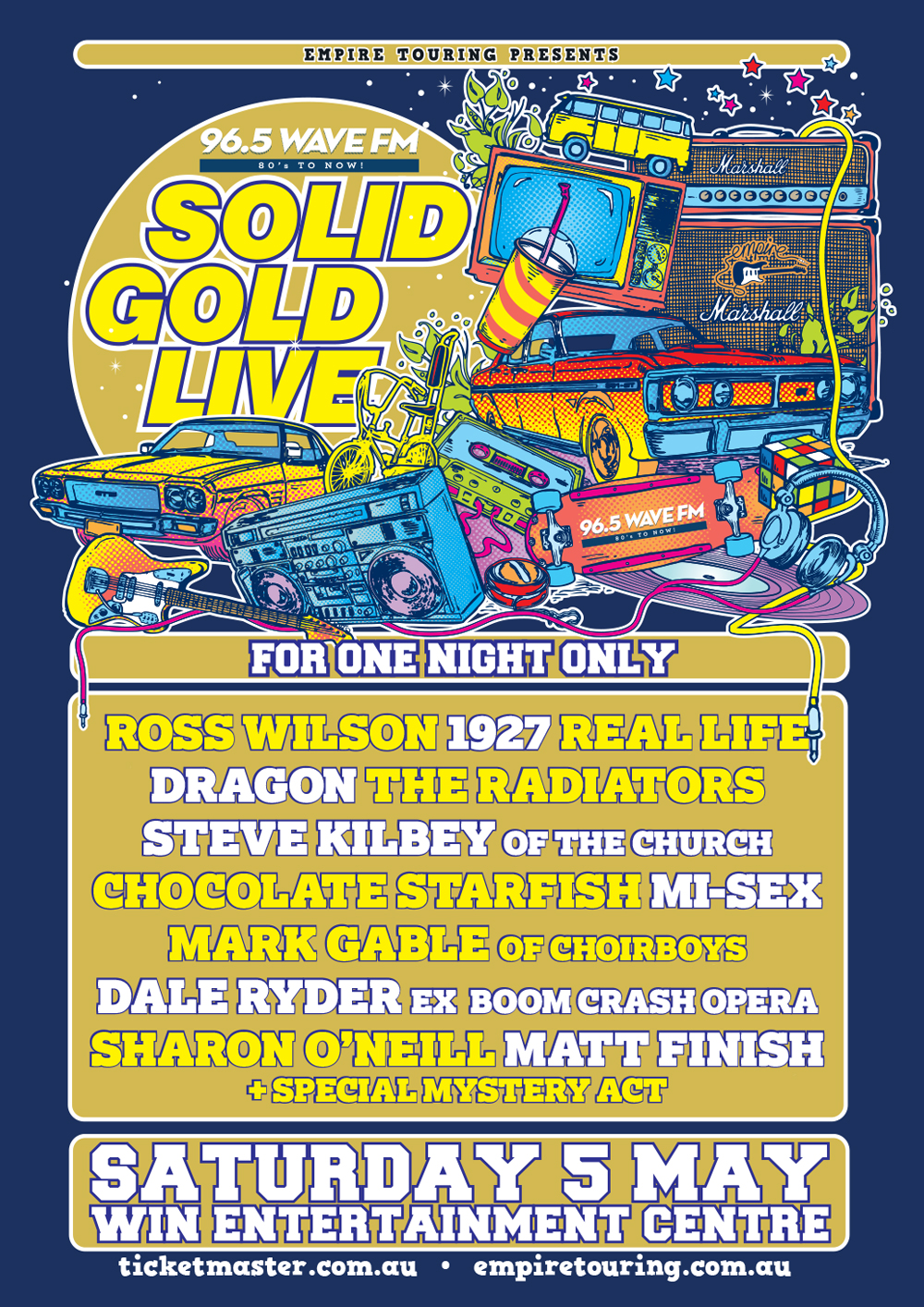 solid gold live - saturday 5th may