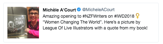 TOP TWEET #NZWRITERS18  -