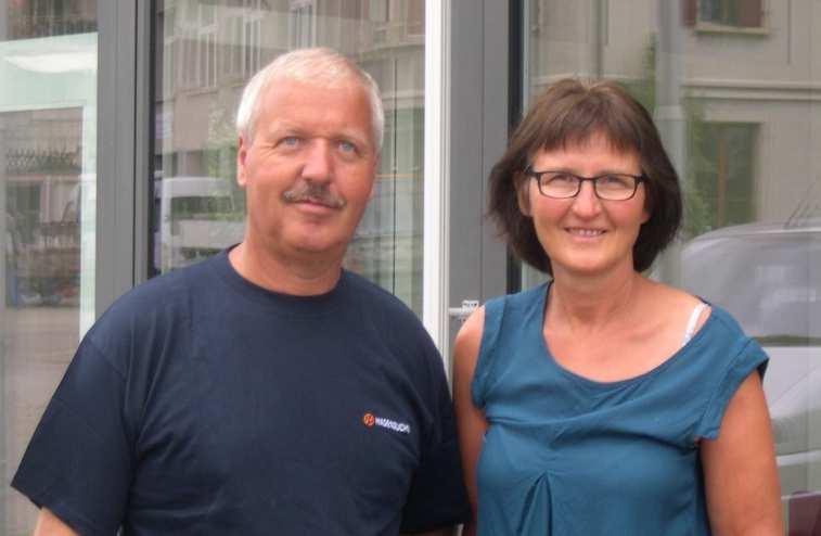 Secteur jaune :  Béatrice et Marcel Glauser