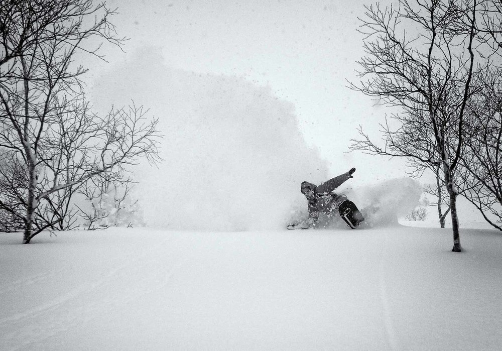Lead host and Japan snow veteran Will Jackways comes up for air on a typical Hokkaido day -