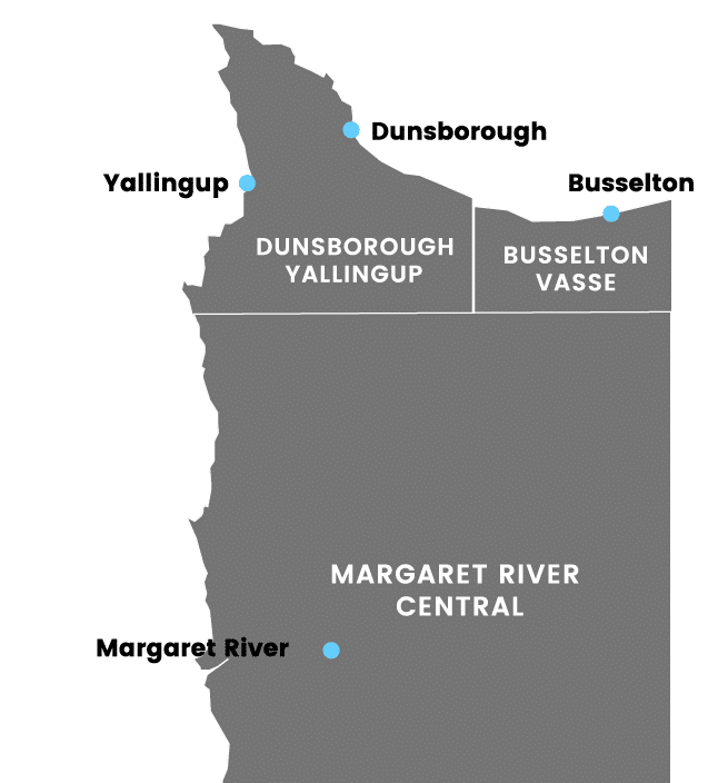 Map sourced from www.margaretriver.scoop.com.au