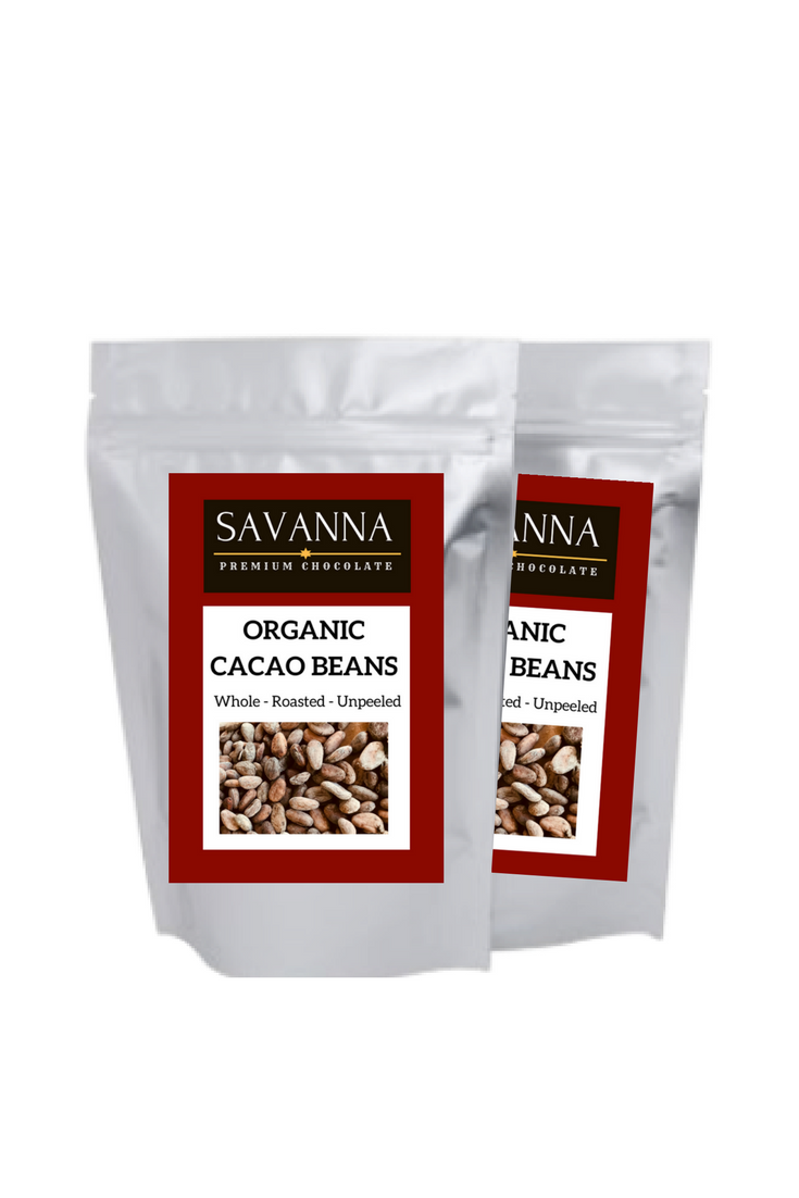 ROASTED CACAO BEANS 200g  Organic ZMW135  Natural ZMW120