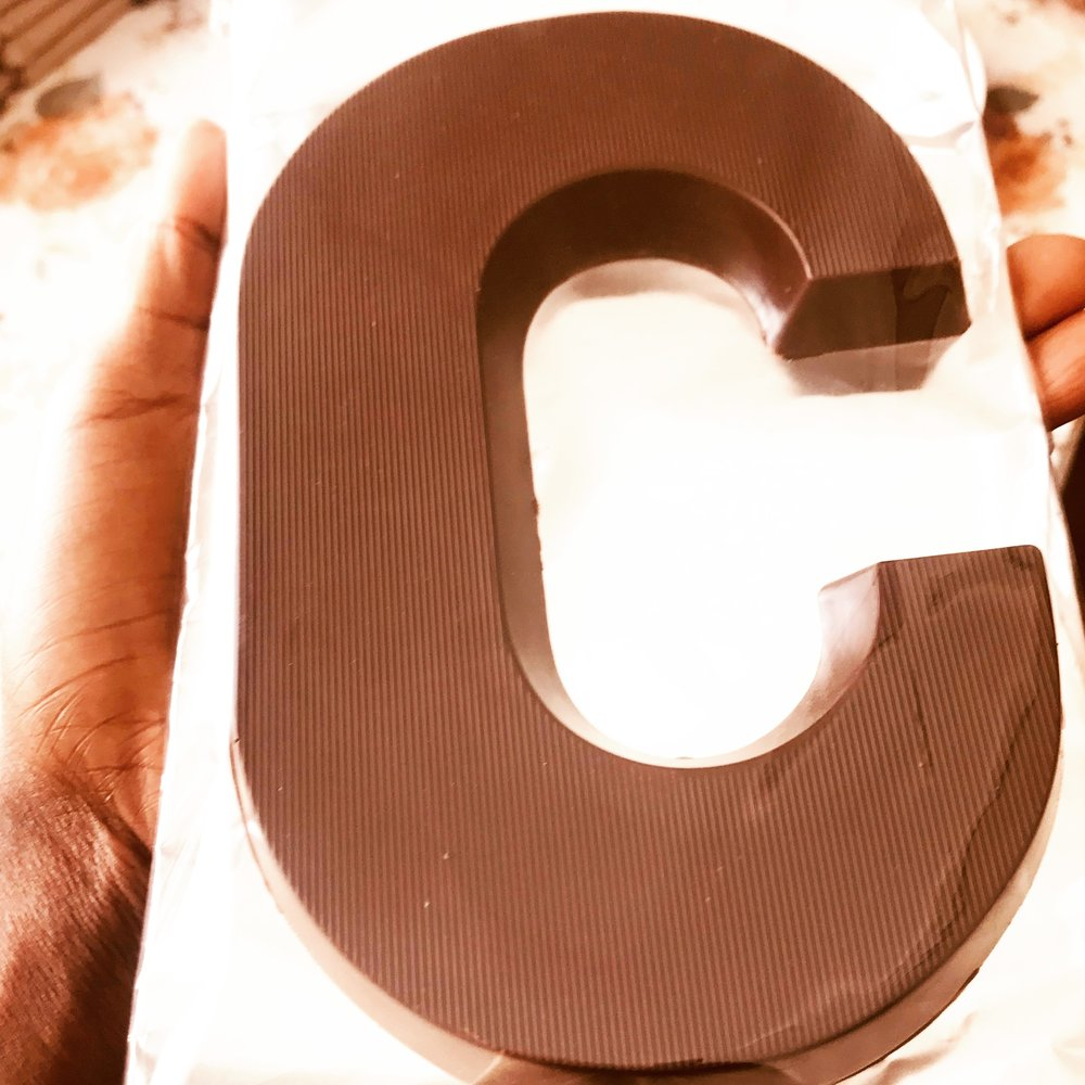LARGE LETTERS 200g   C & M available  ZMW100 per letter