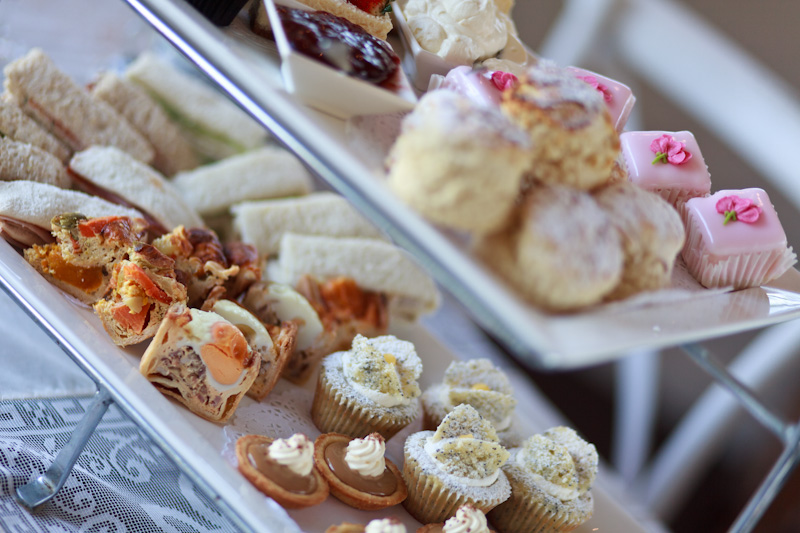 ADULT CANAPES $27.50 per person - Chef-prepared high tea-style sandwiches plus a selection of warm savouries and our signature scones with fresh cream and housemade preserve, as well as artisan tea or barista coffee